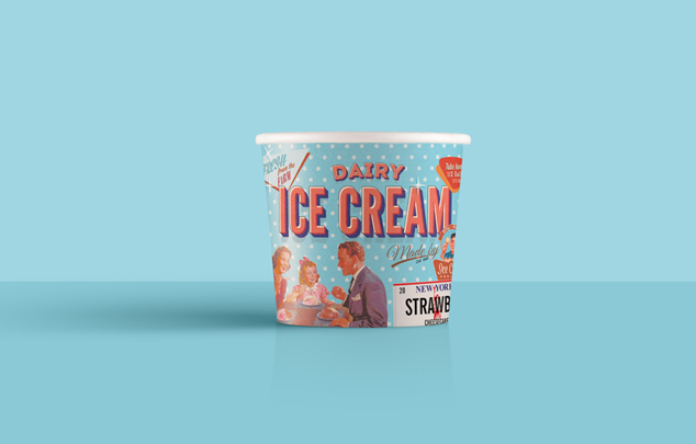 Billy Bobs Ice cream - Romilly - Rom Bean graphic designer in Skipton